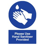 Drop - Please Use Hand Sanitiser Provided