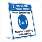 COVID-Secure Desk Sign - Do Not Sit Here