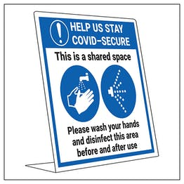 COVID-Secure Desk Sign - Shared Space