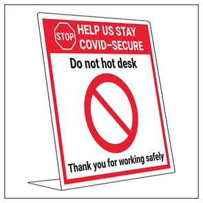 COVID-Secure Desk Sign - Do Not Hot Desk