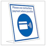 Covid Retail Desk Sign - Contactless Payments
