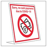 Covid Retail Desk Sign - No Cash Payment