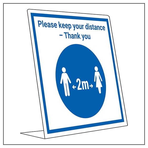 Covid Retail Desk Sign - Keep Your Distance