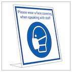 Covid Retail Desk Sign - Please Wear Face Covering