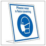Covid Retail Desk Sign - Wear A Face Covering