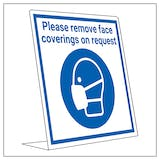 Covid Retail Desk Sign - Remove Face Coverings