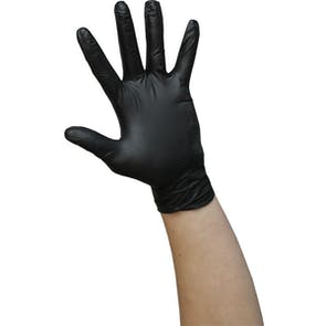 Economy Black Powder Free Nitrile Gloves