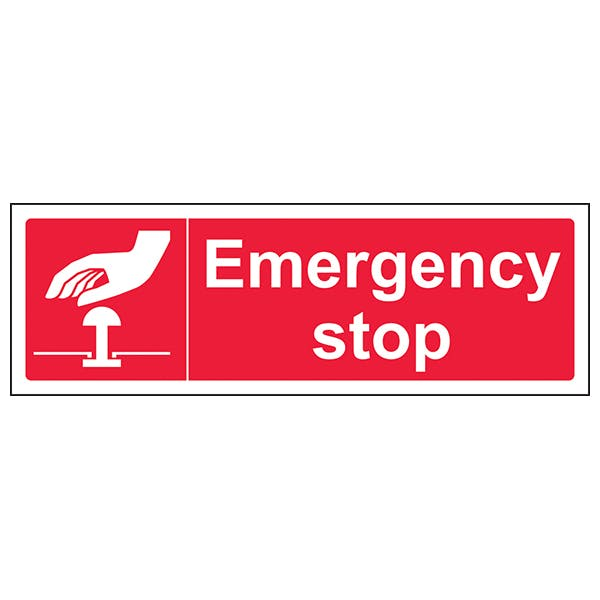 Emergency stop (Red) - Landscape