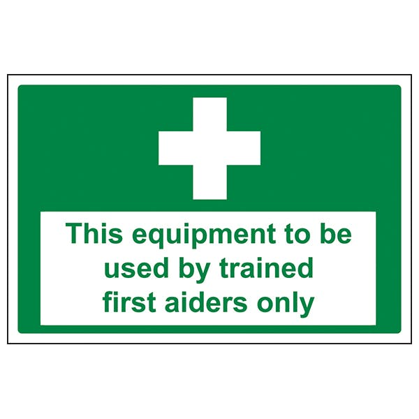 Equipment To Be Used By Trained First Aiders