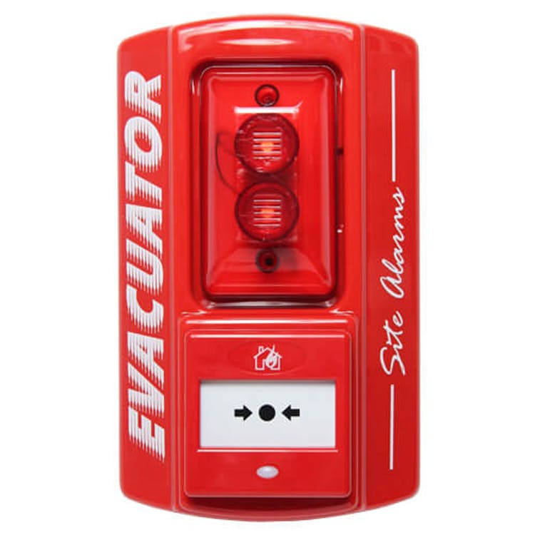 Evacuator Site Master Break Glass Alarm