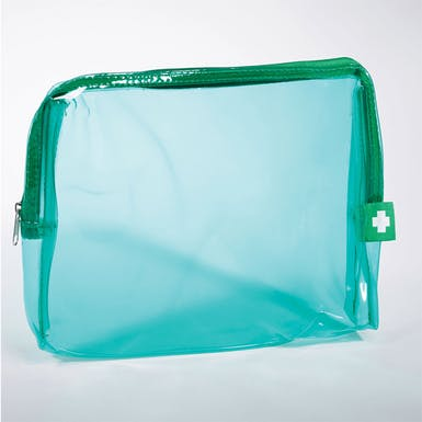 Clear Zip Up Bag and Label
