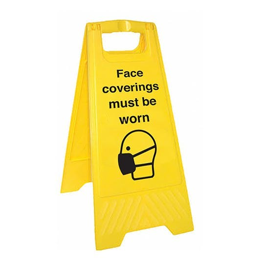 Face Coverings Must Be Worn - Double Sided Floor Sign