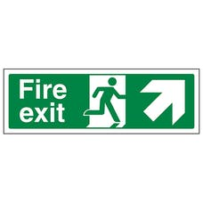 Fire Exit Arrow Up And Right