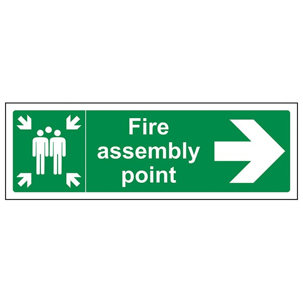 Fire Assembly Point Arrow Right