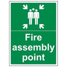 Fire Assembly Point With Family - Portrait