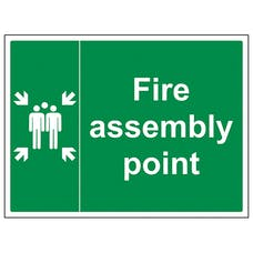 Fire Assembly Point With Family