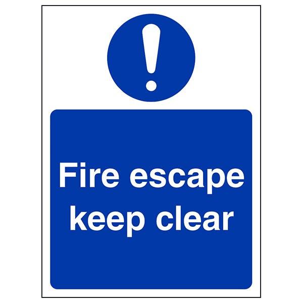 Fire Escape Keep Clear - Portrait