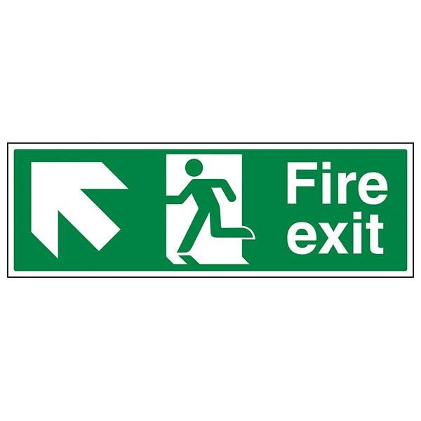 Fire Exit Arrow Up Left
