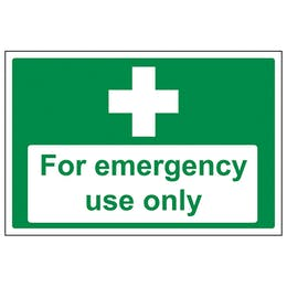 First Aid For Emergency Use Only
