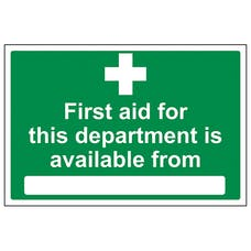 First aid for this department is available