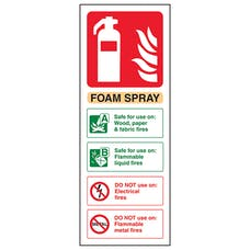 Foam Spray Fire Extinguisher