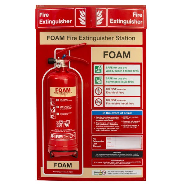 Foam Fire Extinguisher Station