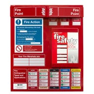 Fire Point Board - Log Book & 9 Point Fire Action Notice