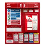 Fire Point Board - Log Book & 5 Point Fire Action Notice