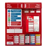 Fire Point Board - Log Book & 6 Point Fire Action Notice