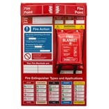 Fire Point Board - Blanket & 9 Point Fire Action Notice
