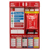 Fire Point Board - Blanket & 5 Point Fire Action Notice