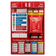 Fire Point Board - Blanket & 6 Point Fire Action Notice