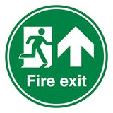 Fire Exit Arrow Up - Temporary Floor Sticker
