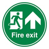 Fire Exit Arrow Up - Temporary Floor Sticker