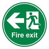 Fire Exit Arrow Left - Temporary Floor Sticker