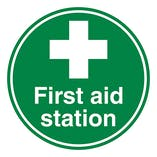 First Aid Station - Temporary Floor Sticker