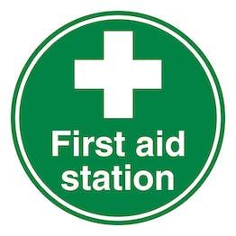 First Aid Station - Temporary Floor Sticker