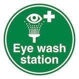 Eye Wash Station - Temporary Floor Sticker