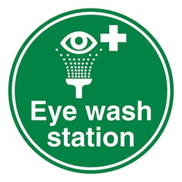 Eye Wash Station - Temporary Floor Sticker