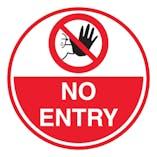 No Entry - Temporary Floor Sticker