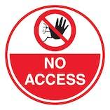 No Access - Temporary Floor Sticker