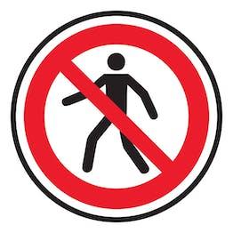 No Pedestrian Access Symbol - Temporary Floor Sticker