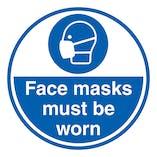 Face Masks Must Be Worn - Temporary Floor Sticker