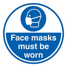 Face Masks Must Be Worn - Temporary Floor Sticker