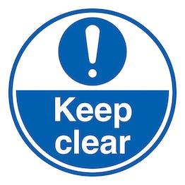 Keep Clear - Temporary Floor Sticker