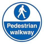Pedestrian Walkway - Temporary Floor Sticker