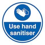 Use Hand Sanitiser - Temporary Floor Sticker