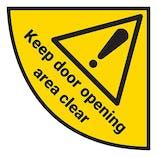 Keep Door Opening Area Clear - Temporary Floor Sticker