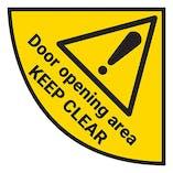 Door Opening Area - Temporary Floor Sticker
