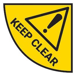 Door Keep Clear - Temporary Floor Sticker